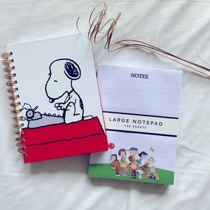 Snoopy notebook and notepad set NWT